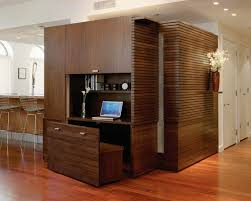 cool home office design. inspiration for a contemporary built-in desk medium tone wood floor study room remodel in cool home office design t