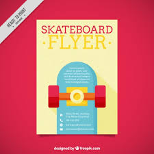 Flyer With A Skateboard In Flat Design Stock Images Page Everypixel