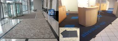 our proprietary carpet tile tray systems allow you to create an area rug or entry mat using carpet tiles affording you the ability to relocate the rug