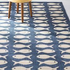 navy outdoor rug fish
