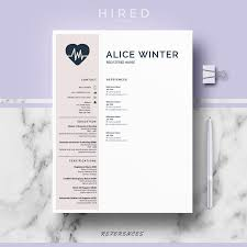 Nursing Resume Archivos Hired Design Studio