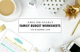 Free Family Budgeting Worksheets Free Printable Family Budget Plan Worksheets That Work