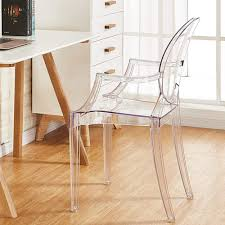 PALDIN Victoria Ghost <b>Chair</b>, <b>2 PCS</b> Clear Inspired Ghost <b>Dining</b> ...