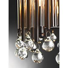 piper modern chandelier style pendant with glasetal rods dressed with glass beads
