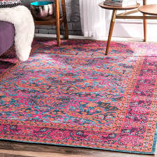 pink and green area rug sunshineinnwellington