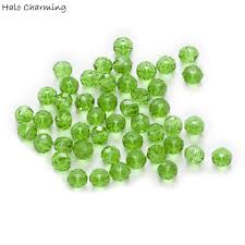 Light Green Crystal 50 Piece Light Green Crystal Glass Rondelle Quartz Faceted Beads For Handmade Bracelet Necklaces Diy Jewelry Making 4 8mm
