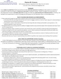 resume for nurse educator position job resume example