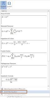 insert new equation in word2016 jpg