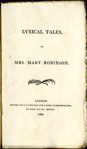 lyrical tales by mary robinson th century research seminar crs  lt1800title lt1800toc ‹