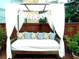 Outdoor Bed With Canopy Daybed Wicker Cabana Sale Ideas – Source ...