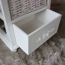 white storage unit wicker: lila range floral white  wicker basket storage unit