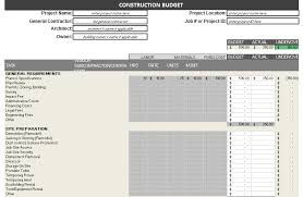 Commercial Construction Budget Template Construction Budget Template Free Detailed Budget