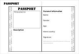 Free Passport Template For Kids Passport Template 100 Free Word Pdf Psd Illustrator Format with 19
