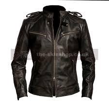 theskin men s black cafe racer reckless black distressed leather biker jacket