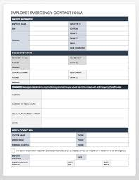 template for emergency contact information free contact list templates smartsheet