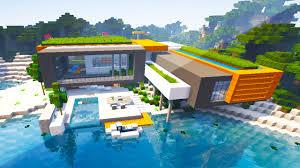 minecraft maps modern beach house you