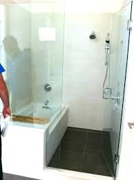 showers shower bath combination combo corner tub bathtub ideas bathroom small surround combinations uk