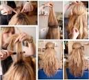 Причёски на распущенные длинные волосы с плетением