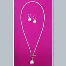 sea lily s pearl necklace and earrings set