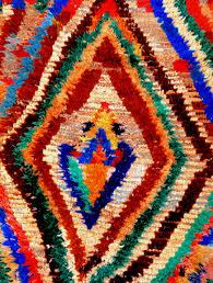 azilal berber wool rug red orange blue green yellow