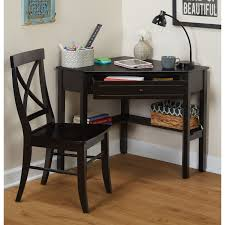Simple Living Black Corner Desk and Crossback Chair 2-piece Study Set -  Free Shipping Today - Overstock.com - 13090070