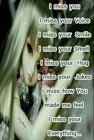 i miss u i miss you i miss your voice i miss your smile i