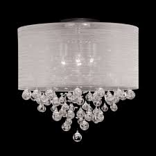 20 round drum shade 4 lamp crystal ceiling light flush mountceiling lights