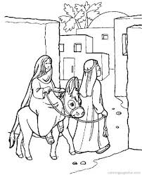religious christmas colouring pages