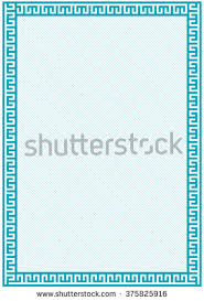 diploma border template vector certificate border template additional design stock vector