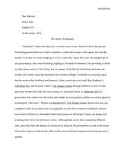 hunger games boss noe valencia hunger games essay sacrifice 6 pages the death of humanity comparison essay