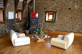 living room fireplace stock