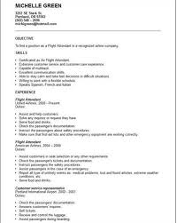 Sample Flight Attendant Resume Wwwisabellelancrayus Terrific
