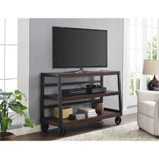 Movable Tv Stand Living Room Furniture Dark Brown Wood Rustic Tv Stands Living Room Furniture