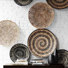 cozy ideas wicker wall decor home wallpaper decorative baskets to hang on how woven basket art