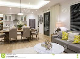 Luxury Living Room Luxury Living Room Beside A Dining Room And The Kitchen Stock