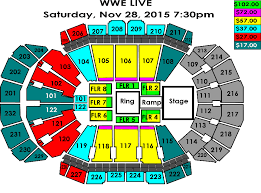 Wwe Live Seating Chart Wwe Live Holiday Tour Sprint Center