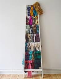 any ladder could become a perfect scarf collection display