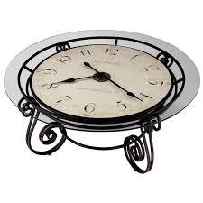 howard miller ravenna round coffee table clock