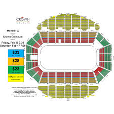 Crown Coliseum Fayetteville North Carolina Seating Chart Traxxas Monster Truck Crown Complex