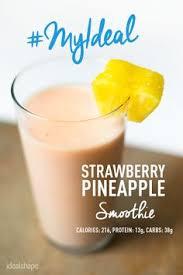 1 scoop strawberry idealshake mix 1 2 cup of orange juice 1