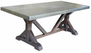 zinc top coffee table full size of restoration dining hardware i50 zinc