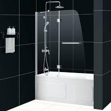 bath frameless glass bathtub doors sliding tub door oil rubbed bronze