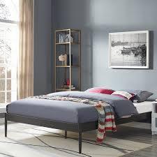 Steel Bedroom Furniture Unique Full Sized Bed Frame Metal Steel Material Solid Black Color