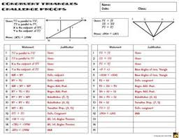 Triangle Proofs Congruent Triangles Proofs Two Column Proof Practice And Quiz