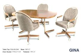 caster dining room chairs game table and chairs with casters