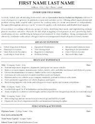 Sample Mechanic Resume Cover Letter Sample Resume Automotive
