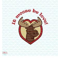 Valentine SVG Moose Love Cut File / Cutting File / Clipart Svg | Etsy