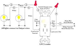 gfci light switch arealive co  gfci light switch simple wiring diagram for and light switch receptacle with a light fixture an