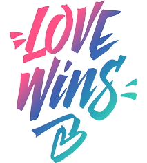 love wins lettering calligraphy freefont2