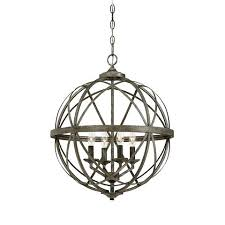 silver orb chandelier in blackened lighting connection large
